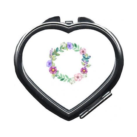 Zrcátko srdce Květinový rámeček