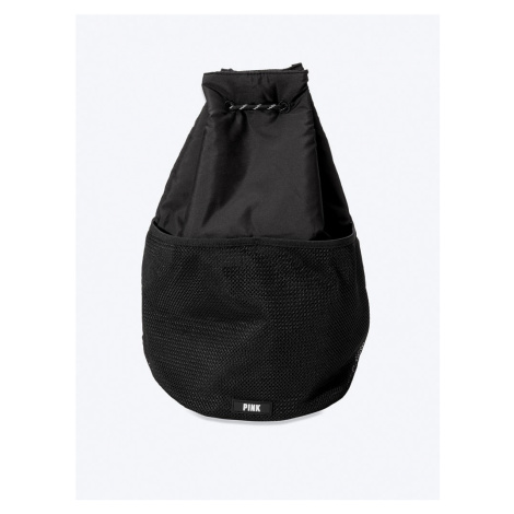 Victorias Secret PINK černý batůžek Drawstring Bag Victoria's Secret