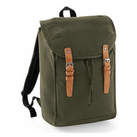 Retro turistický batoh QD - vojenská zelená