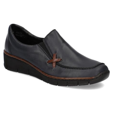 Rieker nazouvací boty - hladká kůže modrá