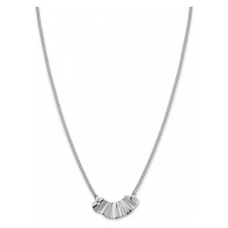Rosefield náhrdelník Lois Liquid Waved necklace landscape Silver