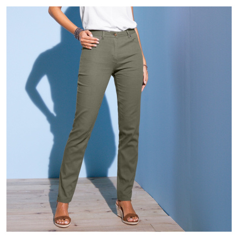 Blancheporte Slim džíny khaki