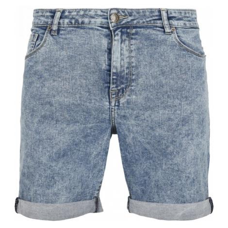 5 Pockets Slim Fit Denim Shorts - light skyblue acid washed Urban Classics