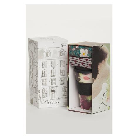 Dárkový set hrnek + ponožky Floral Bamboo Cup & Socks Gift Set