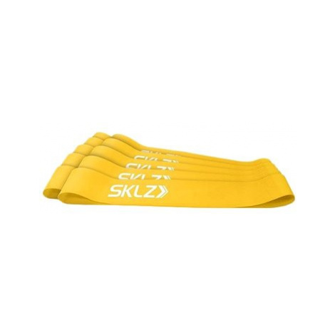 SKLZ Mini Bands - Yellow, posilovací smyčka žlutá, (slabá), 10 ks
