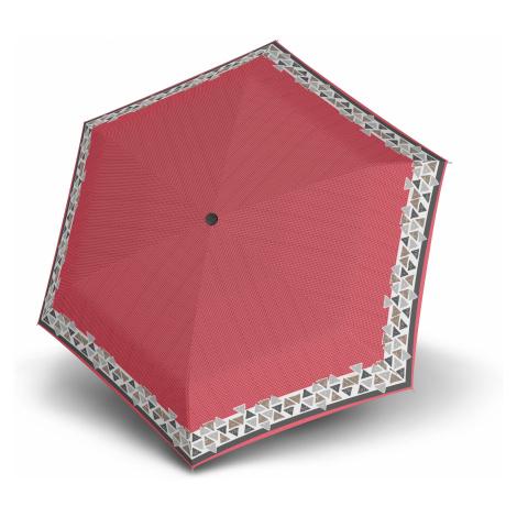 Červený skládací mechanický dámský deštník Atakami Doppler