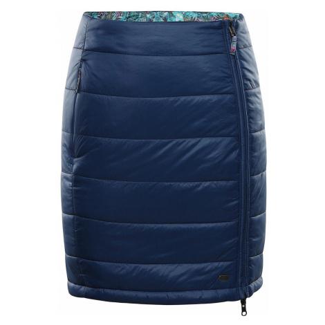 ALPINE PRO TRINITY 7 Dámská oboustranná sukně LSKS258684PA blue wing teal