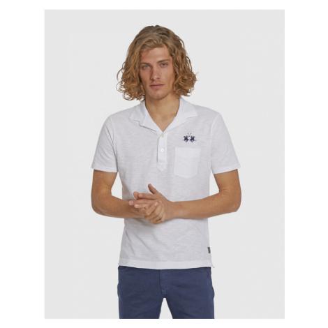 Polokošile La Martina Man S/S Polo Slub Jersey - Bílá