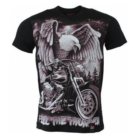 BLACK HEAVEN tričko pánské oboustranný potisk FEEL THE THUNDER