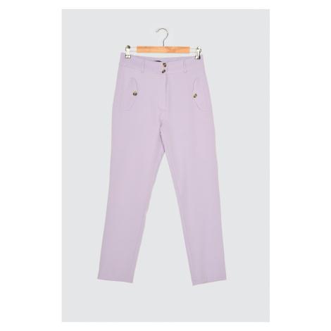 Trendyol Lilac Double Button Cigarette Pants