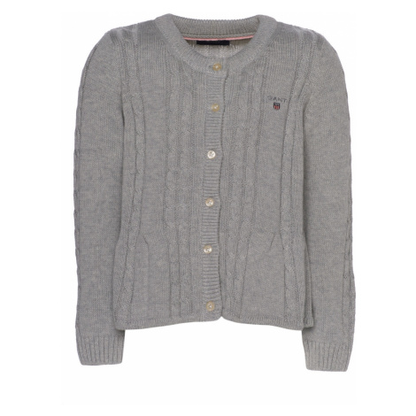 SVETR GANT D1. COTTON CABLE CARDIGAN