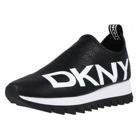DKNY Slip on boty 'AZER' černá / bílá