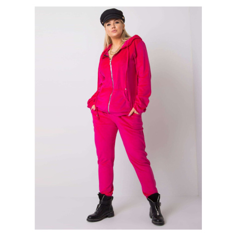 Plus size pink velor set Fashionhunters