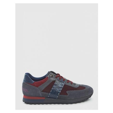 Tenisky La Martina Man Shoes Suede Leather - Červená
