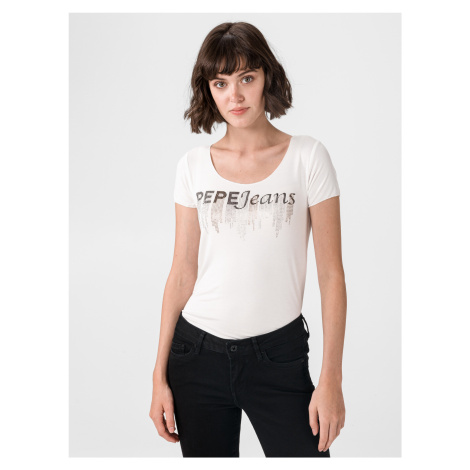 Abbey Triko Pepe Jeans Béžová