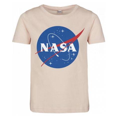 Kids NASA Insignia Short Sleeve Tee - pink Urban Classics