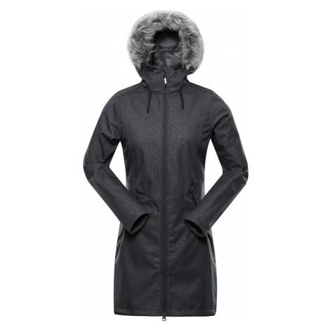 ALPINE PRO PRISCILLA 4 INS. Dámský softshellový kabát LCTS100779 tmavě šedá
