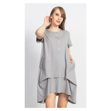 Dámské mateřské šaty Vienetta Secret Adriana | šedá