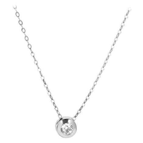 Brilio Silver Stříbrný náhrdelník s krystalem 476 001 00118 04 (řetízek, přívěsek)