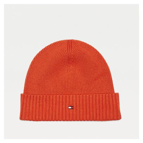 Tommy Hilfiger pánská oranžová zimní čepice Pima