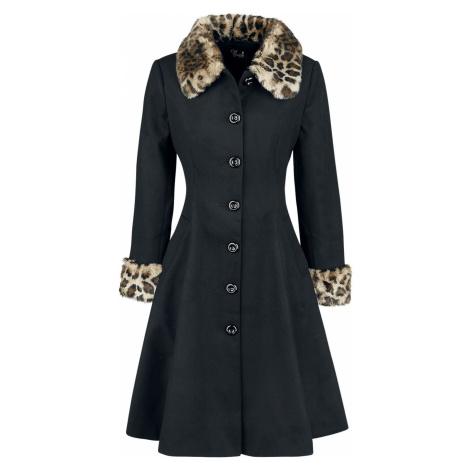 Hell Bunny Kabát Robinson Dámský kabát černý leopard