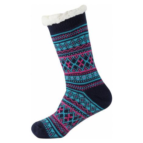 ALPINE PRO SINNIR 3 Unisex ponožky USCS056684 blue wing teal