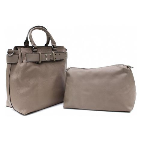 Béžovohnědý dámský elegantní kabelkový set 2v1 Berthe Tapple