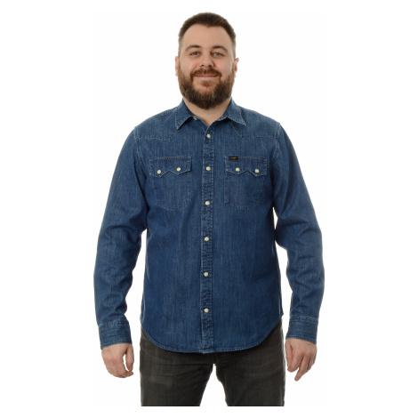 Košile Lee Rider Shirt Dipped Blue pánská modrá