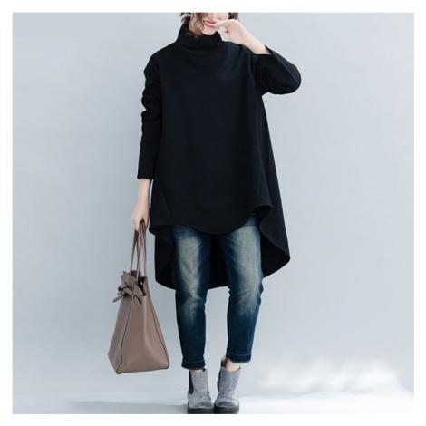Dámský dlouhý svetr oversize FashionEU