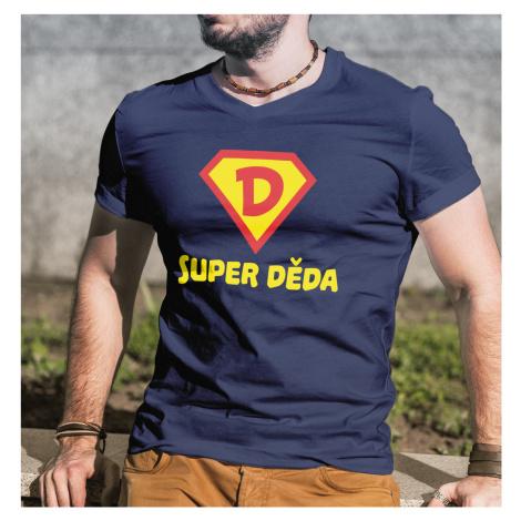 Originální tričko s potiskem super děda - skvělý dárek pro dědu BezvaTriko