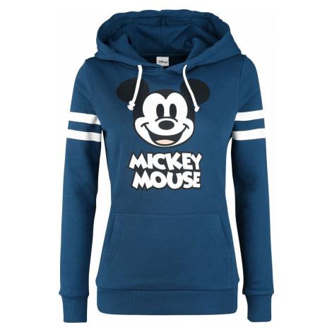 Mickey & Minnie Mouse Mikina Stripes Dámská mikina s kapucí modrá