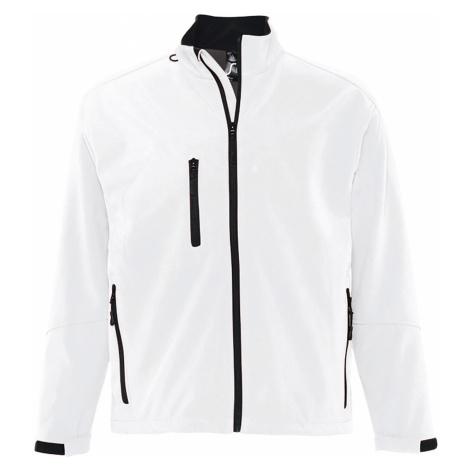 SOĽS Pánská softshellová bunda RELAX 46600102 Bílá SOL'S