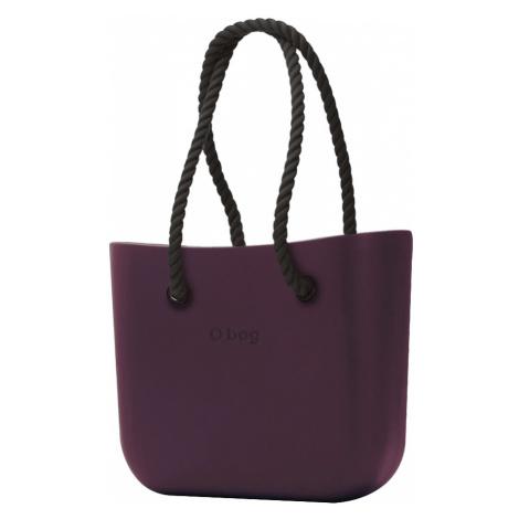 O bag kabelka Melanzana s černými dlouhými provazy