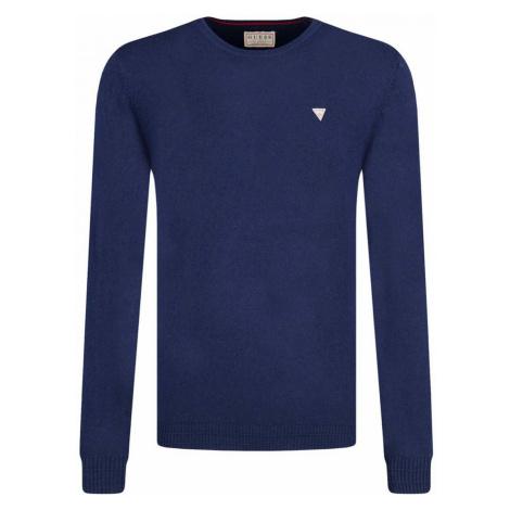 GUESS pánský tmavě modrý svetr