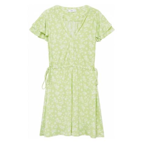 MANGO Letní šaty 'GALA8' bílá / světle zelená