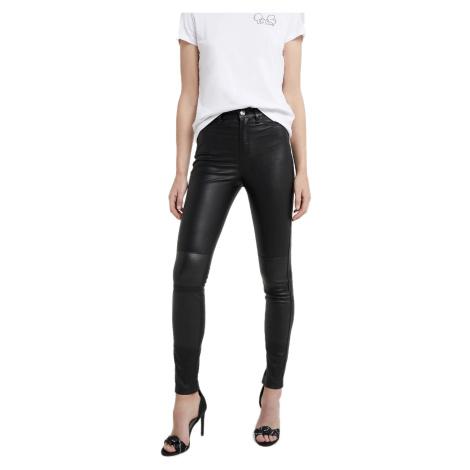 Černé kožené kalhoty - KARL LAGERFELD