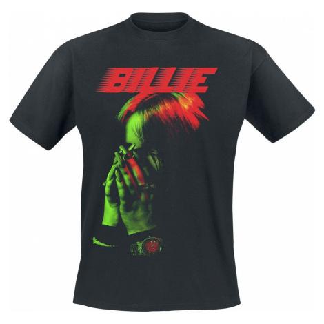 Eilish, Billie Racer Logo Hand Face tricko černá