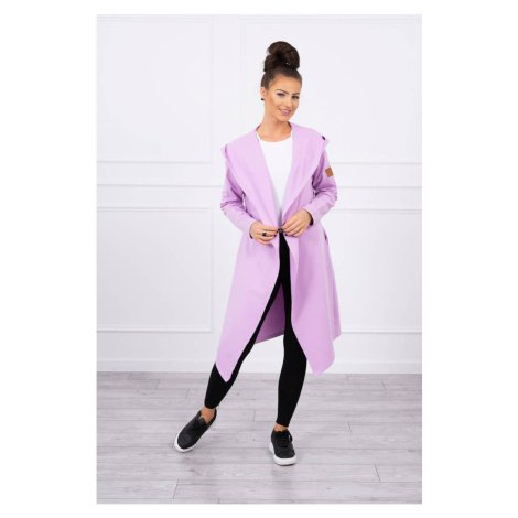 Long cardigan with hood purple Kesi