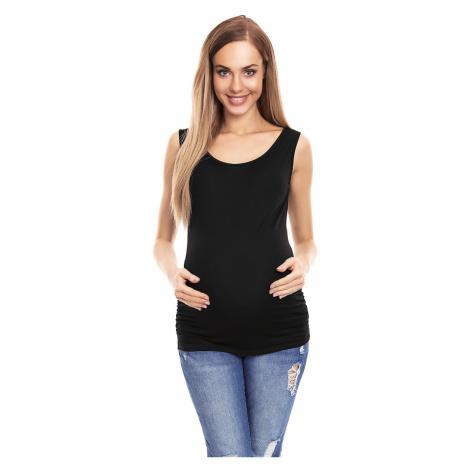 Černý těhotenský top 0141 PeeKaBoo