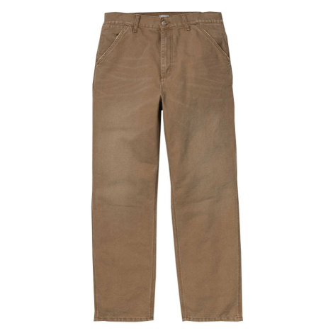 Carhartt WIP Single Knee Pant Hamilton Brown aged canvas hnědé 1026463_HZ_3K