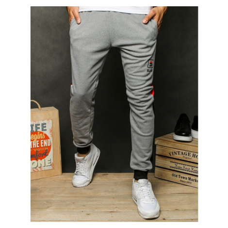 Light gray men's sweatpants UX2574 DStreet