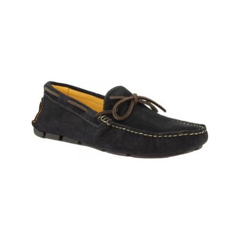 Leonardo Shoes 502 CAMOSCIO BLU SCURO Modrá