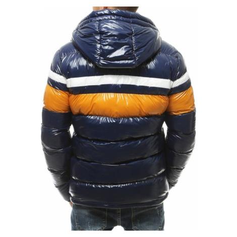 Navy blue men's winter hooded jacket TX3423 DStreet