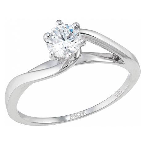 Evolution Group Zlatý prsten 85015.1 bílé zlato s briliantem