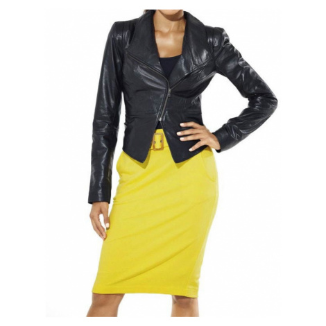 HEINE DÁMSKÁ SUKNĚ S KAPSAMI HEINE, dámská sukně žlutá