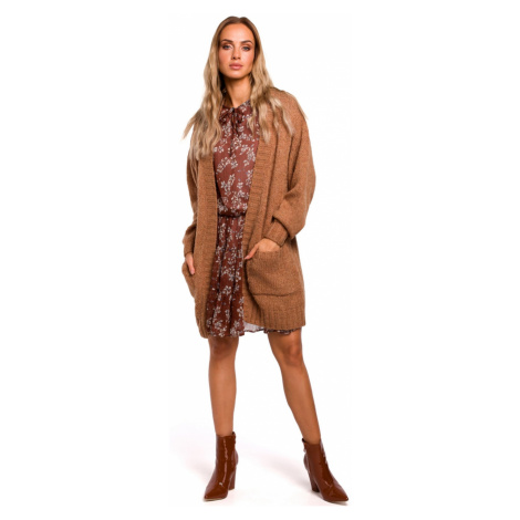 Made Of Emotion Woman's Cardigan M467 Camel