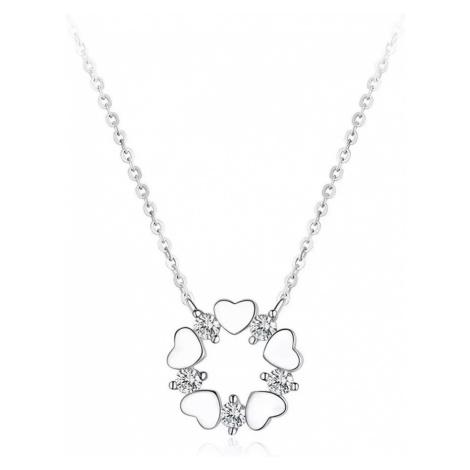 Linda's Jewelry Stříbrný náhrdelník Věneček Lásky Ag 925/1000 INH075