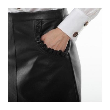 Blancheporte Koženková sukně černá