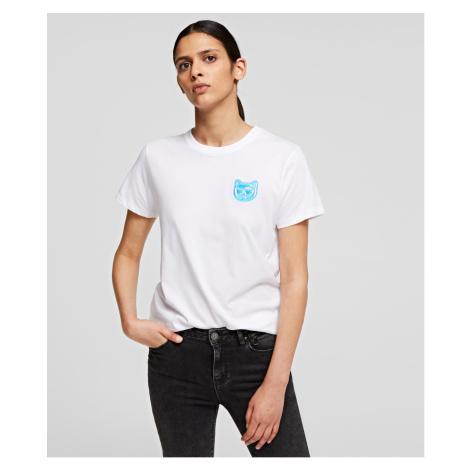 Tričko Karl Lagerfeld Mini Ikonik Choupette T-Shirt - Bílá
