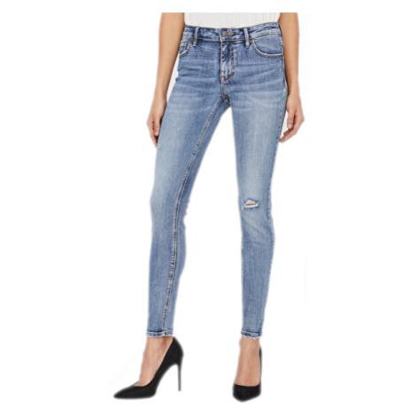 Vero Moda Dámské skinny džíny VMLYDIA Medium Blue Denim XL/32